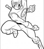 coloriage power ranger 004